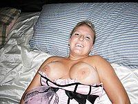 Dralle Blondine mit dicken prallen Titten