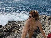 Geile private Urlaubsbilder - Nackt am Strand und Sex im Hotel